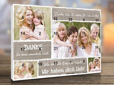 Foto adventskalender mit pers nlichen erinnerungen gestalten - Adventskalender beste freundin ...