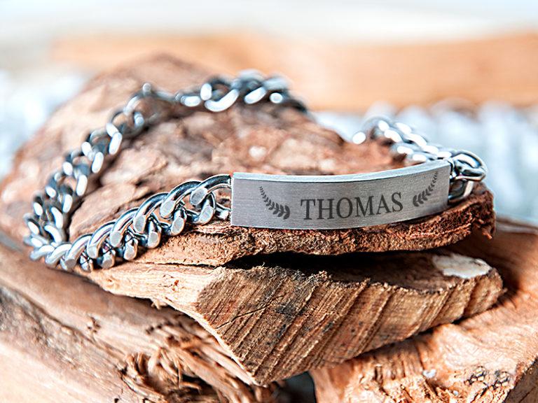 Armband mit Gravur Herrenarmband