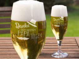 Bierglas mit Gravur Vatertag