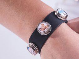 Clickbutton mit Foto Armband
