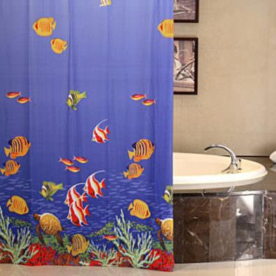 Duschvorhang mit Foto