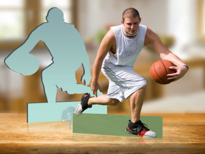 Fotofigur Sportler