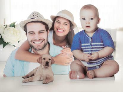 Fotofigur Familie
