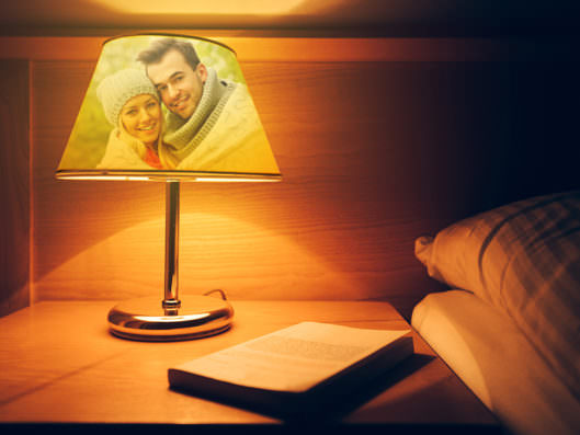 lampe mit fotos foto lampe selbst gestalten. Black Bedroom Furniture Sets. Home Design Ideas