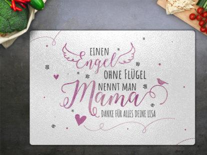 Glasschneidebrett Mama