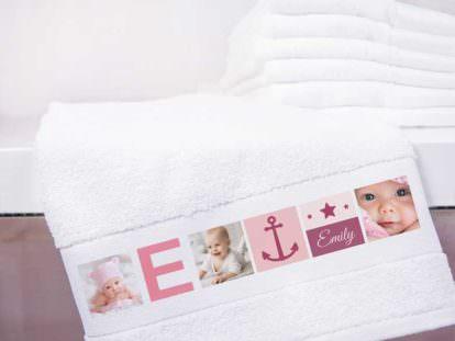 Handtuch mit Foto Mädchen