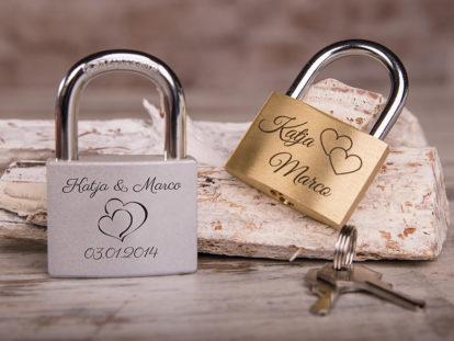 Personalisiertes Liebesschloss graviert Sortiment