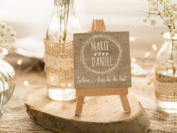 Mini Leinwand Hochzeit
