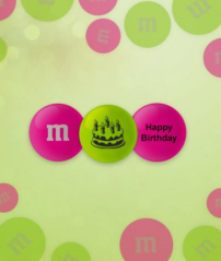 m & m's Geburtstag