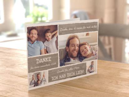 Postkarte Papa