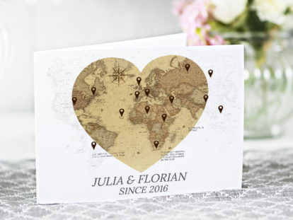 Postkarte Hochzeit