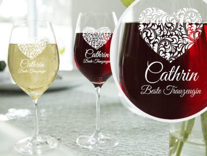 gravierte Weingläser