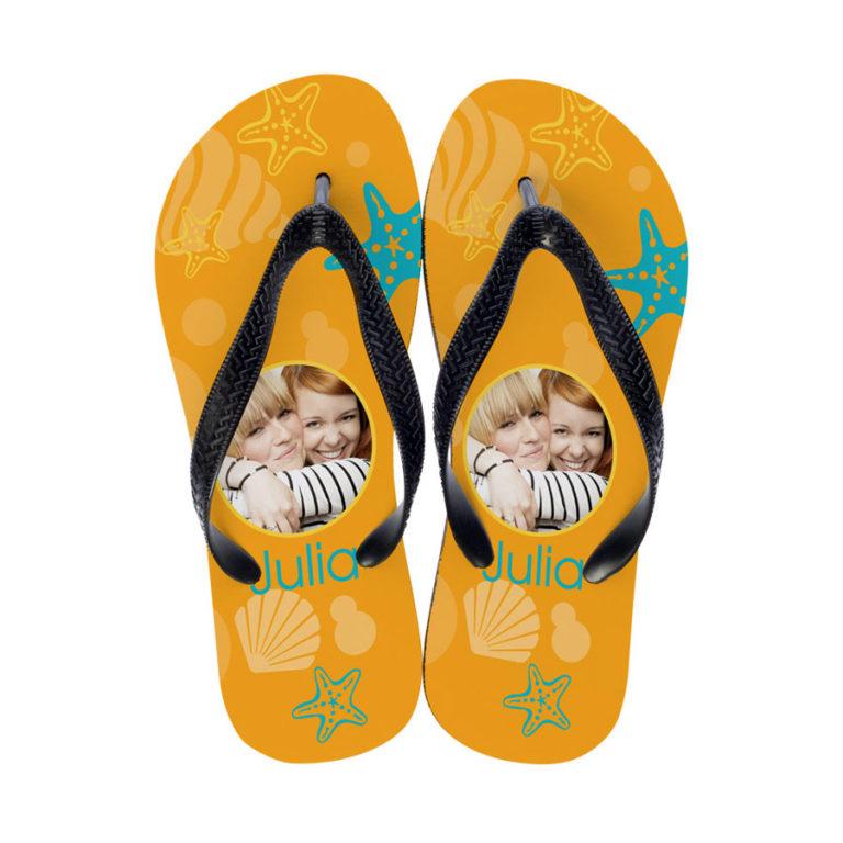 Flip Flops mit Foto bedruckt