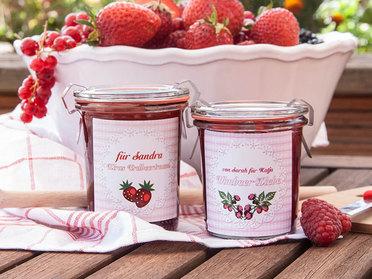 Marmelade mit persönlichem Etikett