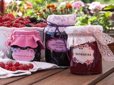 Marmeladenetikett mit Foto