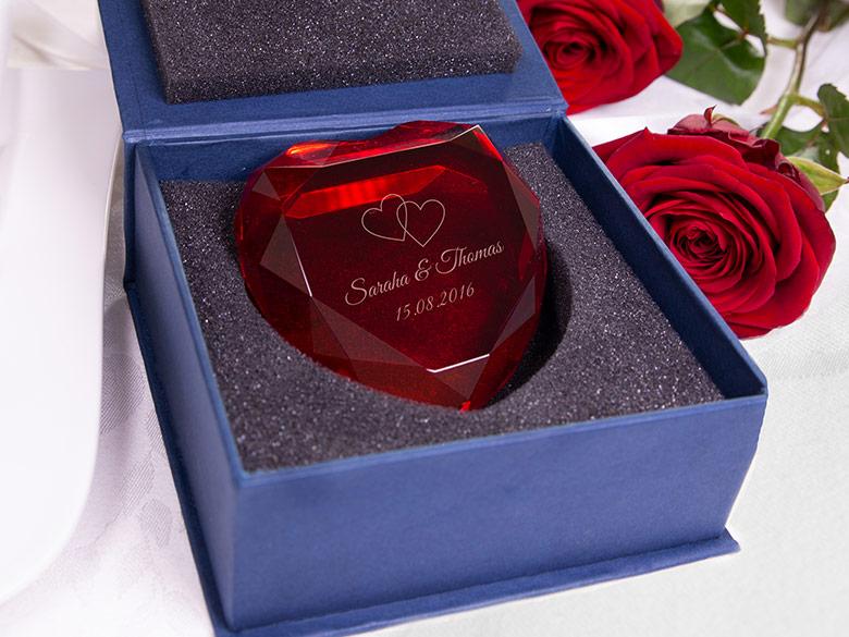 hochwertige Geschenkbox Herzdiamant