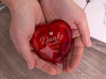 Herzdiamant mit Gravur