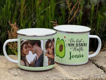 Emaille Tasse Liebe